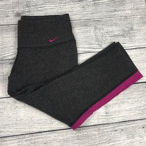 Nike Dri-Fit Capri Gray Leggings Small